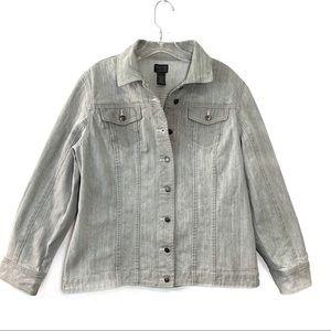 Chico's Denim Jean Jacket Slate Size 12/14